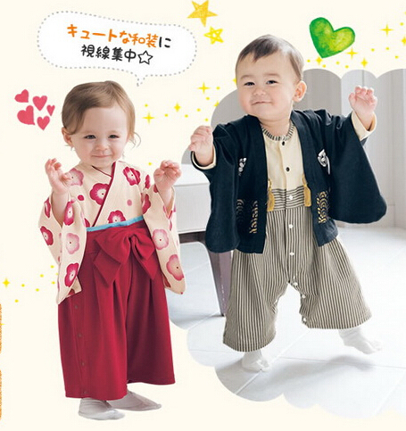 f71b6febd3a1 New Arrivel Baby Boys Girls Clothes Kids Japanese Kimono Style Clothes Baby  Sets Boys Girls Romper