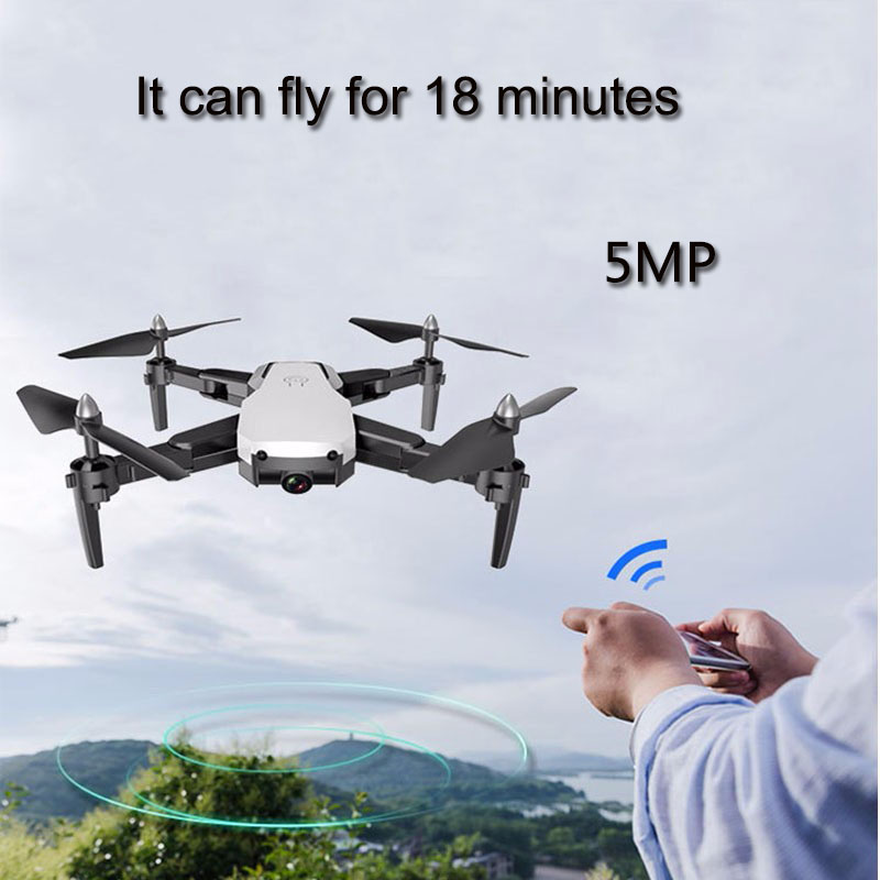 Drone con HD 1080 P HD Wifi Cámara giroscopio flotando FPV RC 5MP plegable RC helicóptero bolsa de almacenamiento de juguete para niño