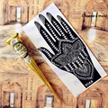 4 pcs Body Paint Indian GOLECHA Henna Cones Black Color 1Piece Temporary Tattoo Kits Body Art Ink