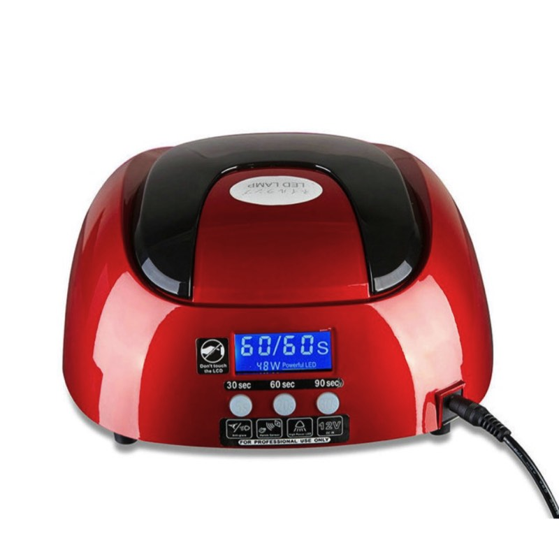 48W Induction Gel UV LED Nail Polish Lamp With Fan Timing Nail Dryer Nail Art Tools xeoleo commercial induction 3500w stainless steel induction cookers with timing for hotpot soup stewing stir fly