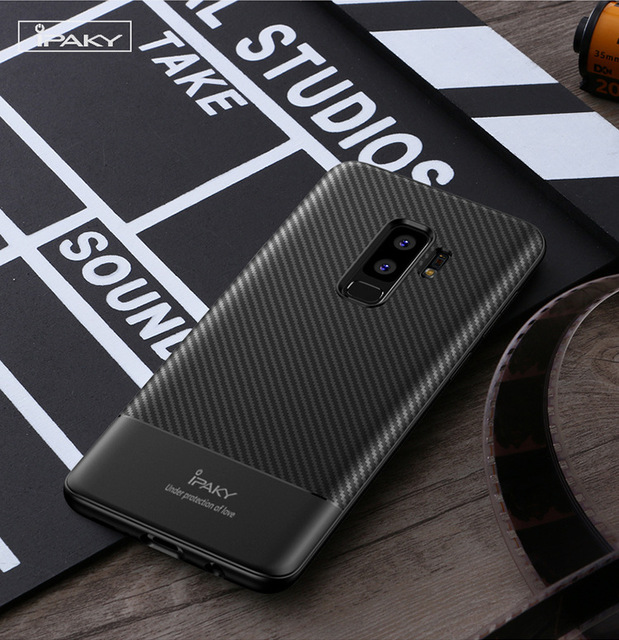 hot sale online 0db3a d00be US $4.99 |Sam S9 Case Ipaky brand Carbon Fiber Soft Silicone Housing Phone  Cases For Samsung Galaxy S9 S9plus business Cover-in Half-wrapped Case from  ...