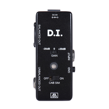 AROMA AMX-5 DI Box Guitar Effect Pedal Aluminum Alloy Transfers Guitar Or Bass Signal Directly To Audio System