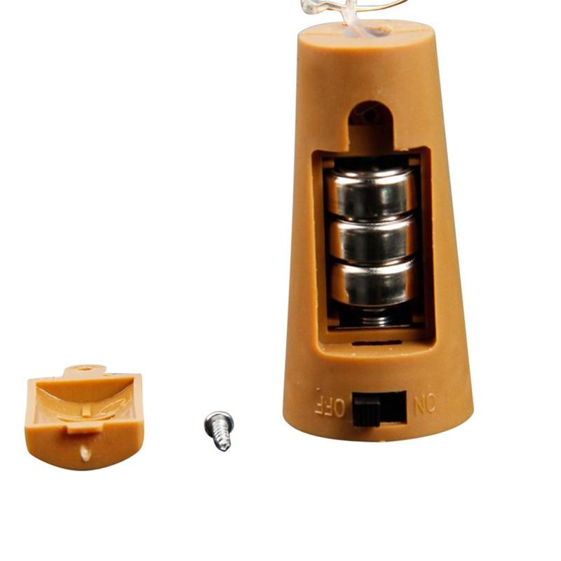 Wine Bottle Cork Shaped String Light 20 LED Night Fairy Light Lamp LR44 Battery Drop shipping 8.1