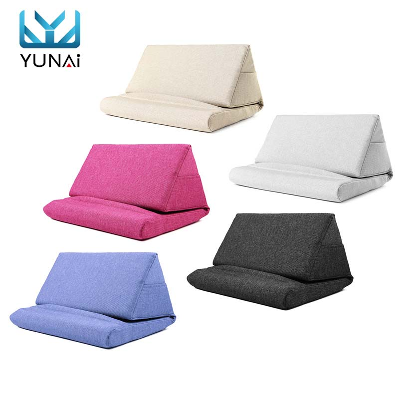 Multifunction Laptop Tablet Pillow PC Tablet Stand Holding Holder Stylish Cooling Pad Foam Pillow Lap Rest Cushion for Ipad stylish stripe and bowknot shape design decorated cushion pillow