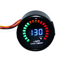 BYGD 2 52mm Digital 20 LED Exhaust Gas Temperature Gauge Meter EGT For Car Auto Truck