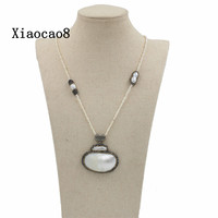 Classic Nature Pearl Necklace For Women Handmade Necklaces Pendants Ladies Gift Fashion Jewelry Free Shipping