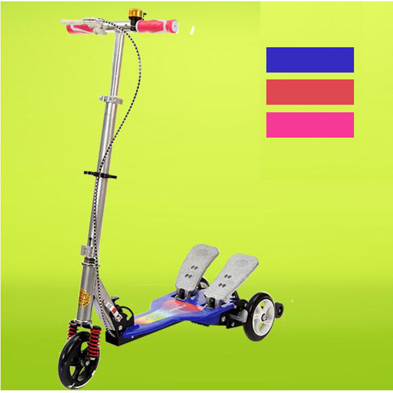 Easy Ride Shining Wheel 2 Pedal Scooter Dual Pedal Scooter Light Wheel Double Pedal Scooter With Brake