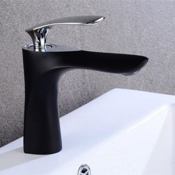 Basin Faucet Elegant Bathroom Faucet Hot and Cold Water Basin Mixer Tap Chrome/Gold/Black Brass Toilet Sink Water Crane