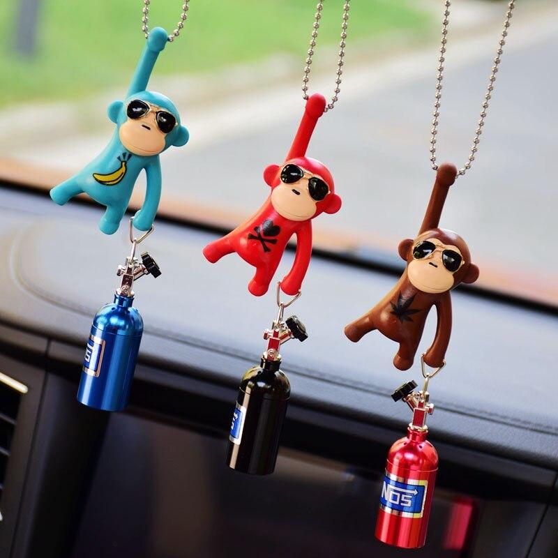 Car Pendant Hanging Monkey  Car Interior Ornaments Decoration Rear View Mirror Accessories For Car Ornament