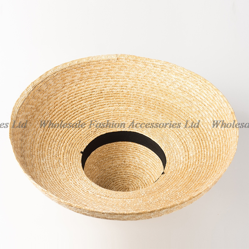82191ba486 3pcs Vintage Summer Women Big Beach Hats Retro Natural Large Wheat Straw  Hats Fashion Ladies Plain Wide Brim Sun Caps Wholesale-in Sun Hats from  Apparel ...