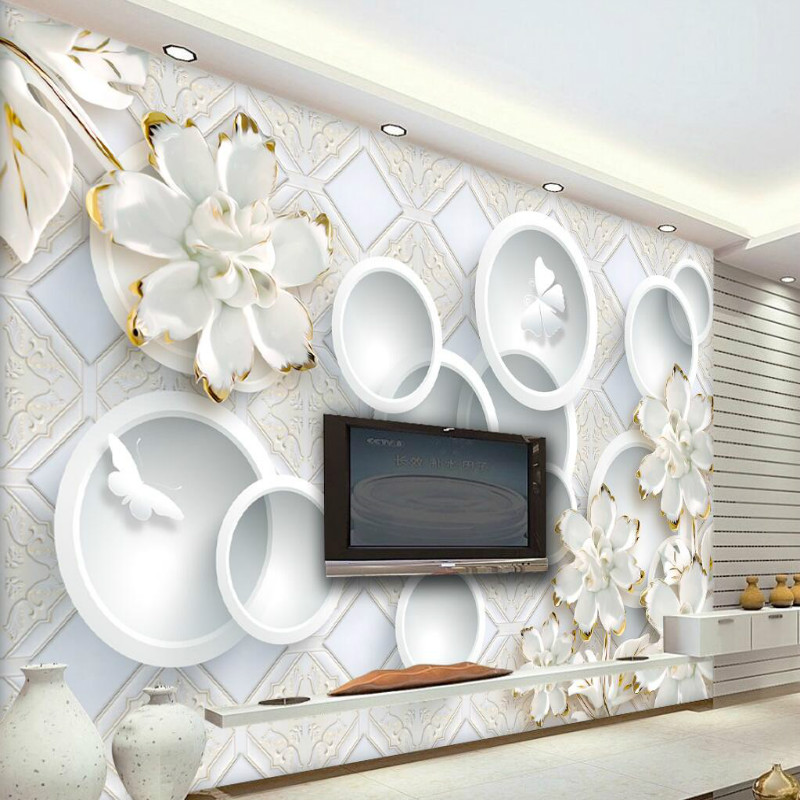 home improvement 3d wall paper rolls waterproof silk wallpaper for walls 3d murals background bedroom living room embossed