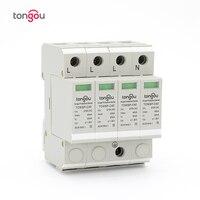 SPD 3P N 4P 20KA~40KA C ~275VAC House Surge Protector Protection Protective Low voltage Arrester Device