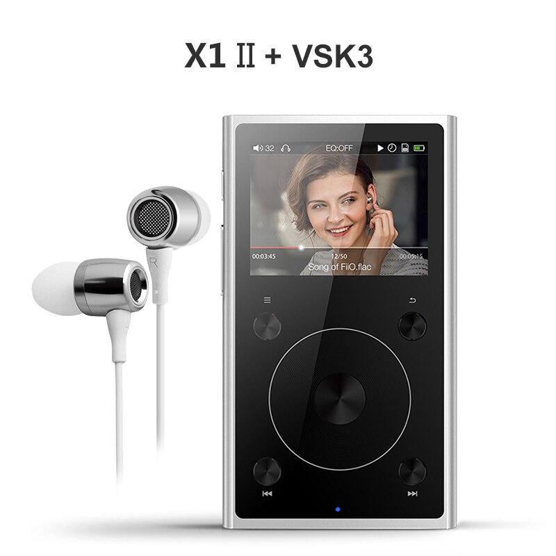 Fiio X1 II X1 2nd gen (+ auricular VSK3) modo Dual Bluetooth 4,0 portátil reproductor de música sin pérdida de alta resolución X1ii