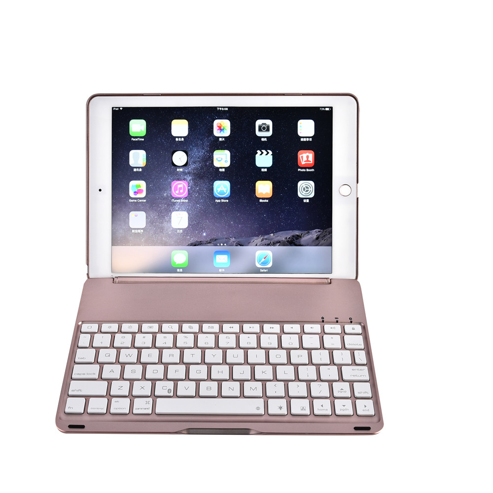 7 Colors Backlit Bluetooth Keyboard Smart Folio Case For iPad Pro 9.7inch tablet wireless keyboard with protective case new A30 цена