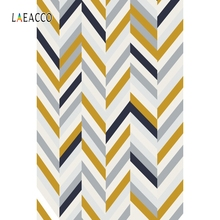 Laeacco Solid Color Stripe Pattern Baby Food Portrait Photography Background Customized Photographic Backdrops For Photo Studio