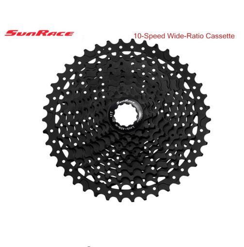 Sunrace 10 vitesses CSMS3 CSMX3 11-40 t/11-42/11-46 t vtt roue libre cassette large rapport vtt vélo cassette