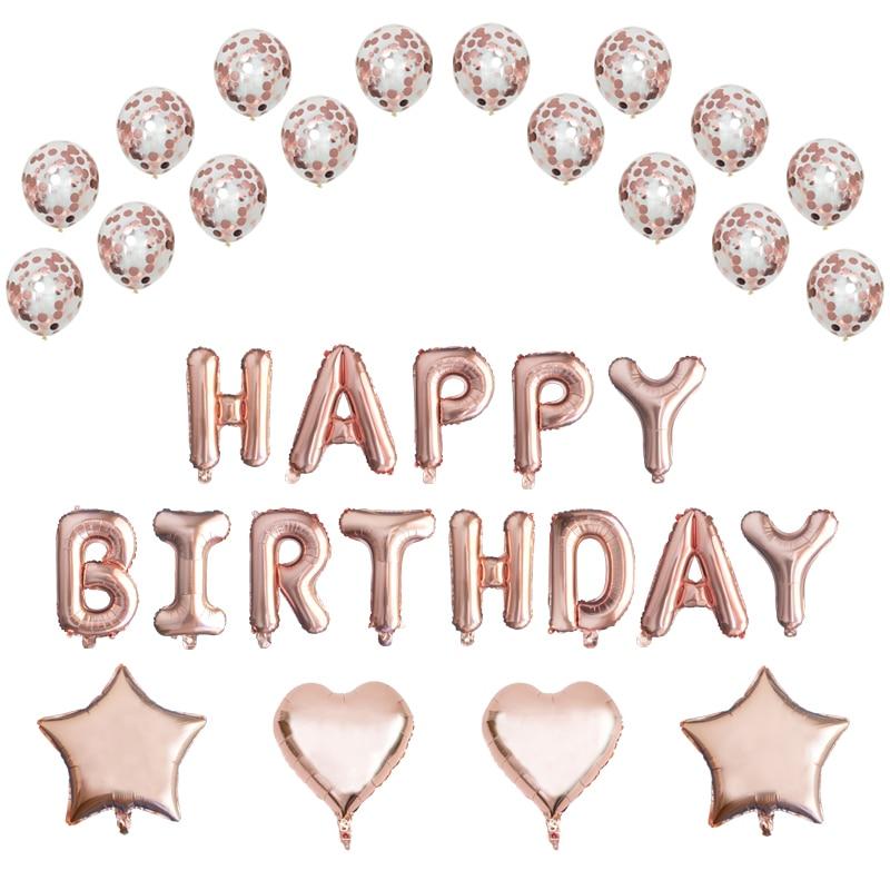 Rose-Gold-Herz-Stern-Helium-Folienballon-Gl-ckliche-Birthday-Konfetti-Bouquet-Baby-Shower-Birthday-Party-Supplies