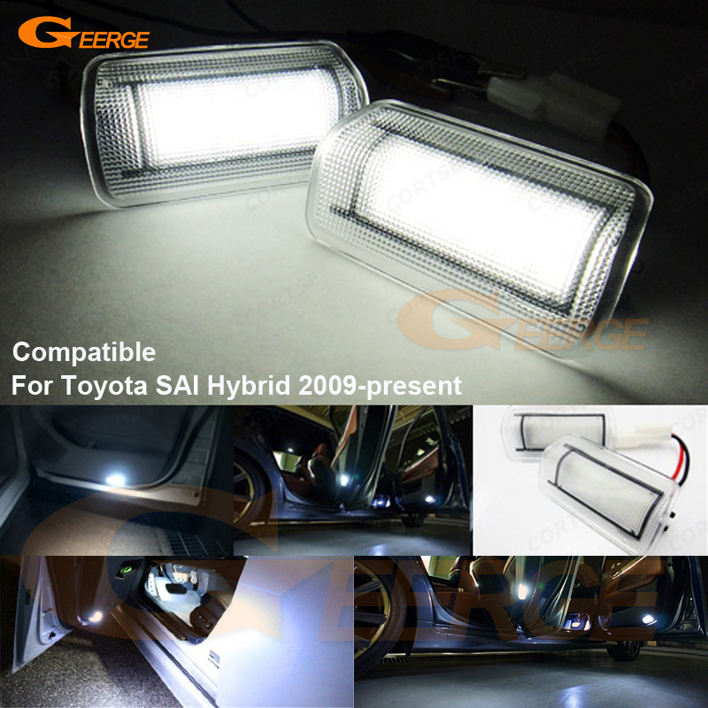 For Toyota SAI Hybrid 2009-present Excellent Ultra bright 3528 LED Courtesy Door Light Bulb No OBC error