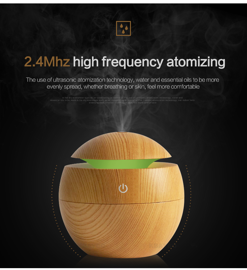 Kbaybo usb aroma essential oil diffuser ultrasonic cool mist humidifier air purifier 7 color change led night light for office home