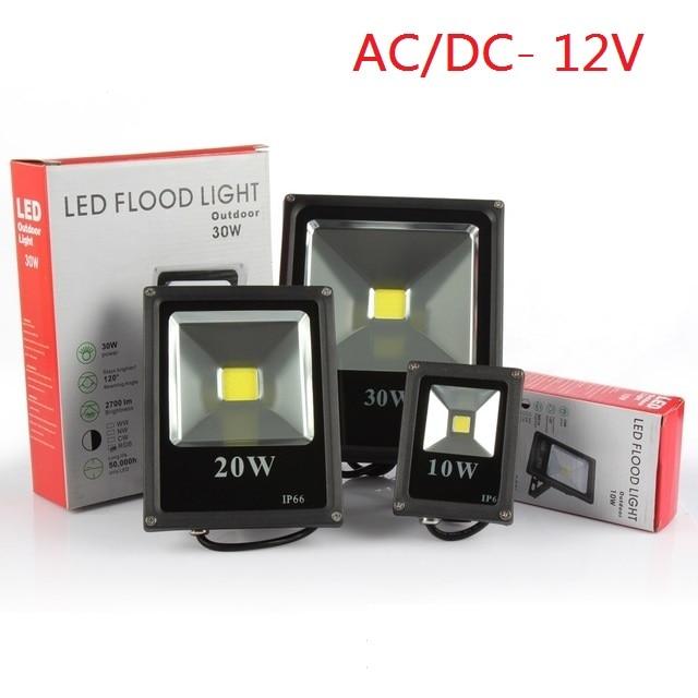 Бесплатная доставка 12В водонепроницаемый Светодиодный прожектор 10Вт 20 Вт 30 Вт 50 Вт теплый/холодный белый/красный/синий/зеленый/RGB Наружный ...