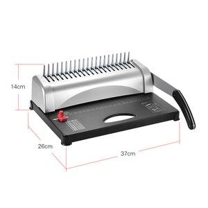Image 2 - Aibecy delikli Metal tel delme ciltleme makinası 450 yaprak kağıt bağlayıcı zımba ofis ev aletleri raporu belgeleri ofis