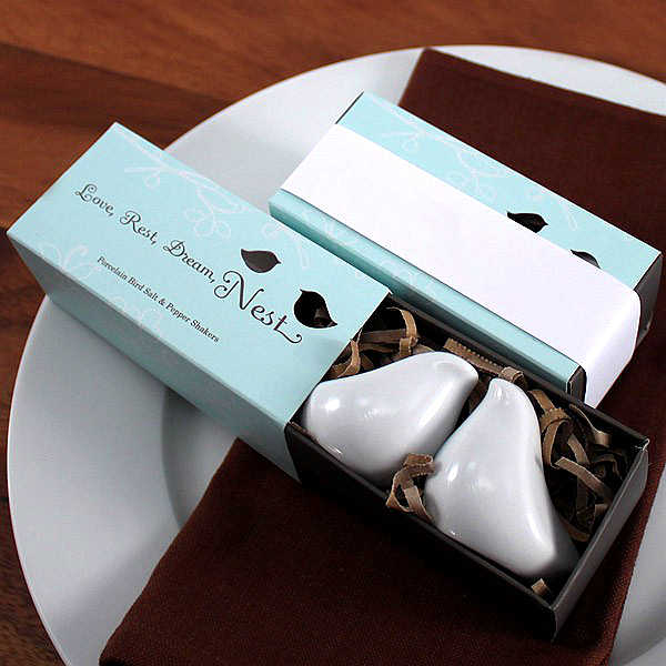 Fast Delivery! Factory Directly Sale Wedding Favor Love Bird Salt & Pepper Shakers In Gift Package Wholesale