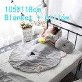 Musselina de algodão swaddle cobertor e travesseiro urso dos desenhos animados do bebê verão fresco jogo pad newborn fotografia props crianças decoração do quarto