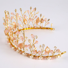 Handmade Tiara with Crystal & Pearls