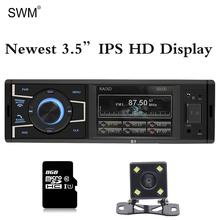 SWM 1 Din Autoradio HD Car Radio Multimedia MP5 Player Reverse Image Bluetooth Aux Tf U Disk Cau Audio Stereo