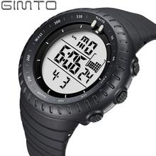 2016 Fashion Sport Reloj de Los Hombres de la Marca de Lujo Led Digital de la PU Reloj hombre 50 m Impermeable Luminoso montre hodinky horloges homme