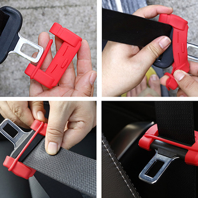Universal Car Safety Belt Buckle Covers Padding Anti Scratch Silicon Seat Padding Interior Accessories Belt Buckle Protector
