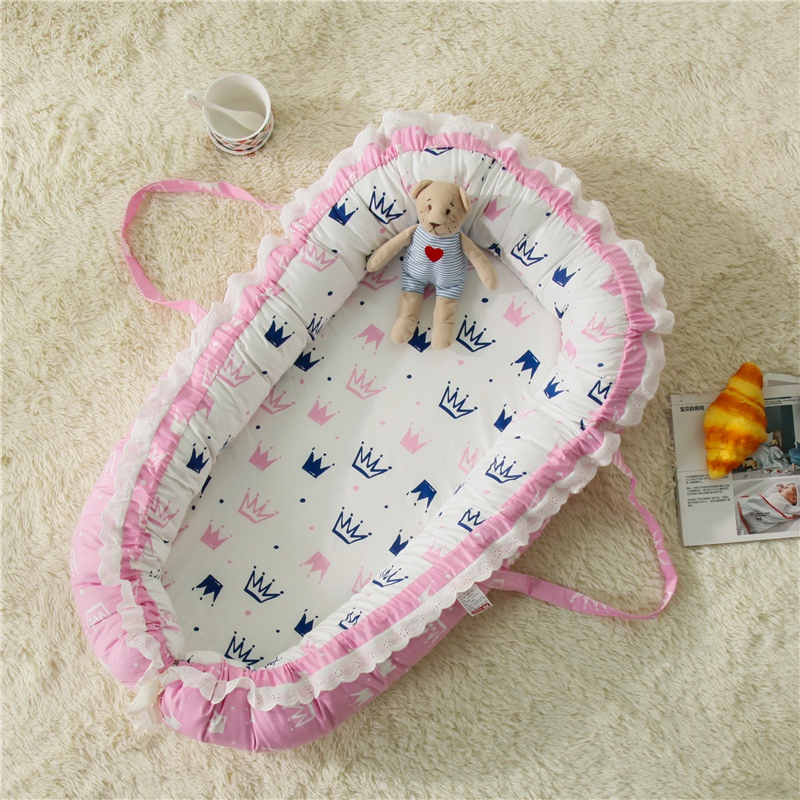 Nursery Bedding Mattresses New Baby Bassinet For Bed Portable Baby Lounger For Newborn Crib Breathable And Sleep Nest