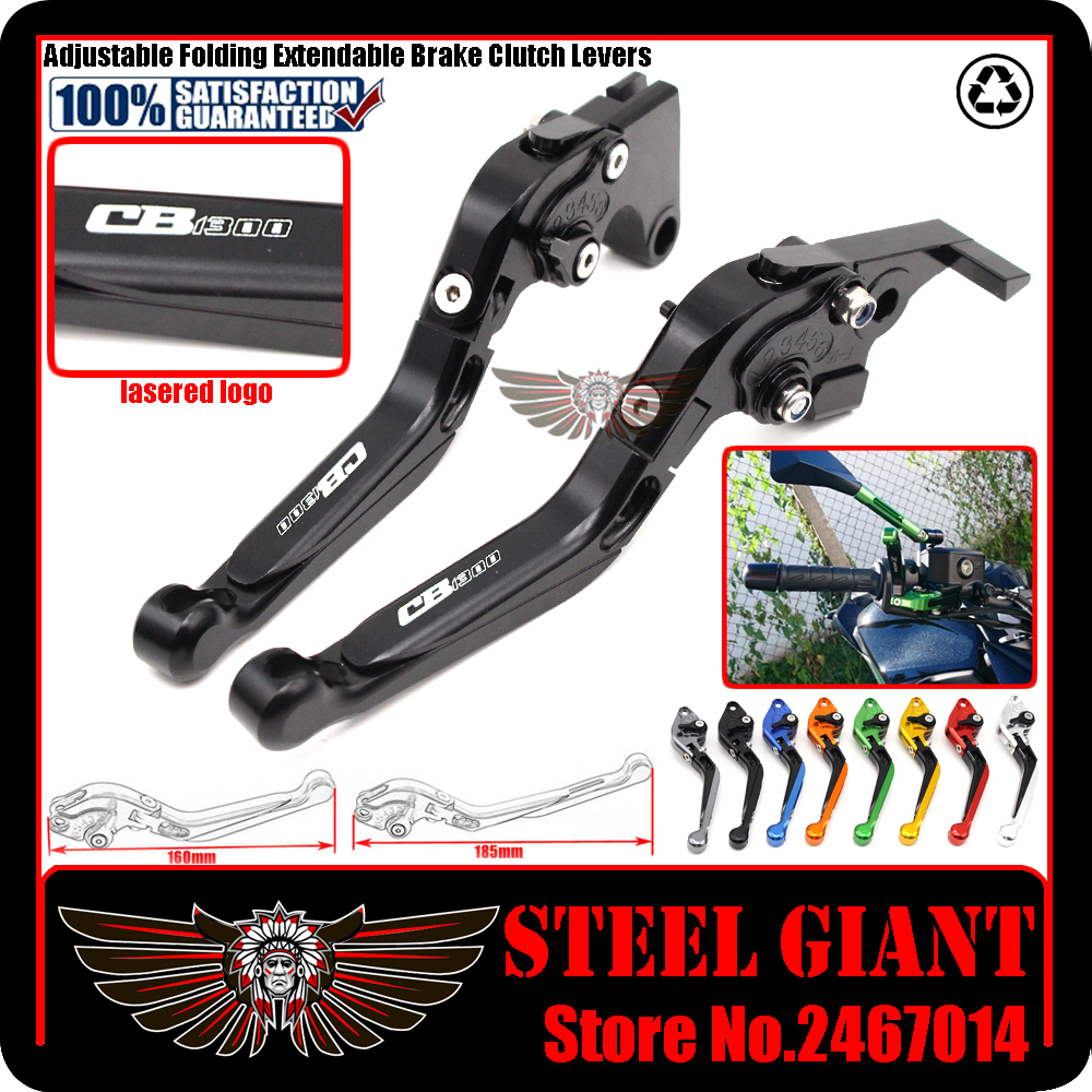 ФОТО fits For HONDA CB 1300SF 2005-2013 Motorcycle Adjustable Folding Extendable Brake Clutch Levers logo CB 1300