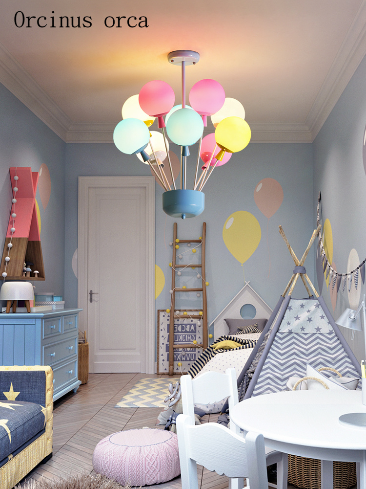Cartoon Creative Balloon Chandelier Boys Girls Bedroom Children's Room Lamp Modern Romantic Colorful Balloons Chandeliers