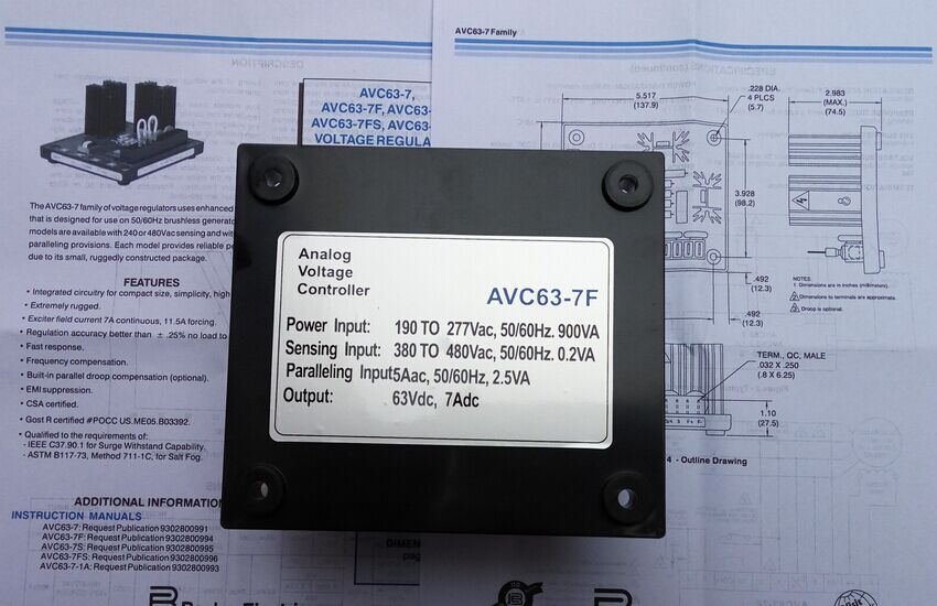 Basler AVR AVC63-7 серии AVC63-7F+ быстрая EMS/FedEx