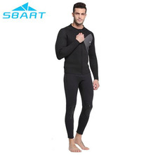 SBART 3MM Neoprene Long Sleeve Swimming Wetsuit Jacket Men Winter keep Warm Spearfishing Diving Kitesurfing Wetsuits Top Coat цена