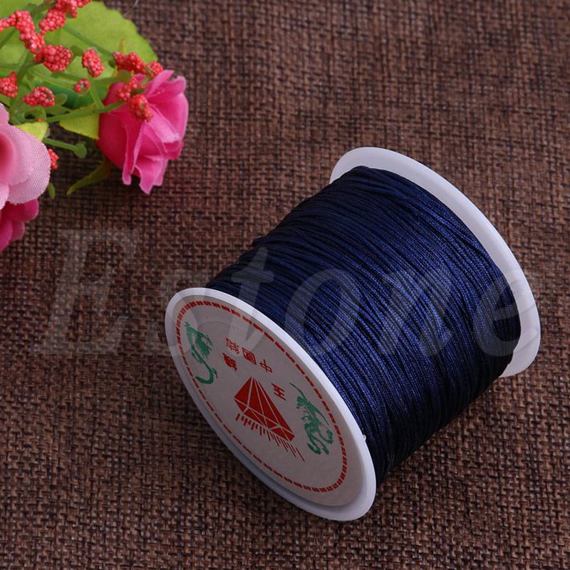 0.8mm 45m Nylon Chinese Knot Macrame Bracelet Braided Cord Thread String Thread Cords String Thread For DIY Necklace Bracelet