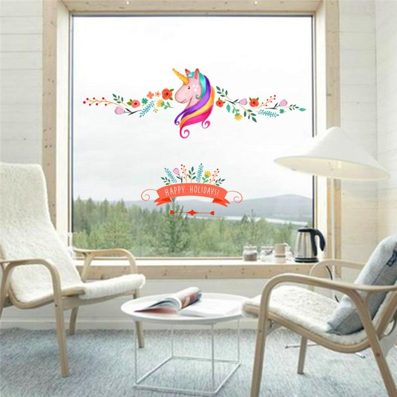 πολύχρωμα λουλούδια floral μονόκερος - Διακόσμηση σπιτιού - Φωτογραφία 4