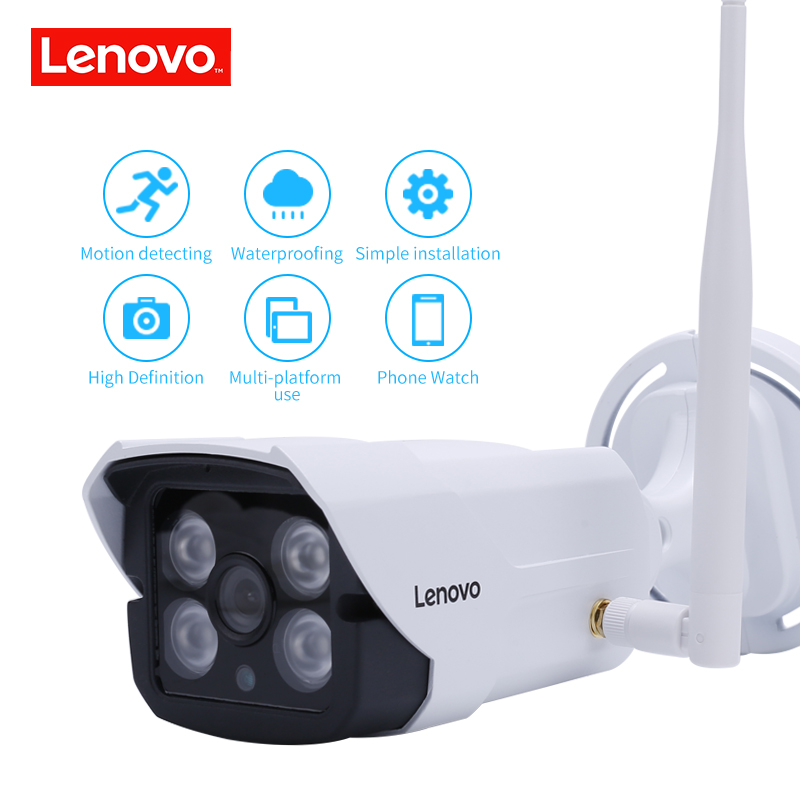 Image 2 - LENOVO Outdoor Waterproof IP 1080P Camera Wifi Wireless Surveillance Camera Built in 32G Memory Card CCTV Camera Night Vision-in Surveillance Cameras from Security & Protection