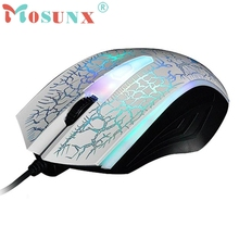 Beautiful Gift New 2400 DPI USB Wired Optical Gaming Game Mice Mouse For PC Laptop Wholesale price Sep23