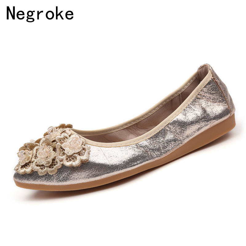 f14da14b5fdf 2019 Spring Summer Ballet Flats Women Flat Heel Casual Shoes Woman Pointed  Toe Loafers Sexy Lace Moccasins Zapatos Mujer