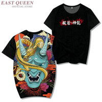 Japanese T Shirt Hiphop Top 2019 Summer Print Harajuku Rock T Shirt Loose Casual Asian Male Japanese Streetwear Shirt KK2868