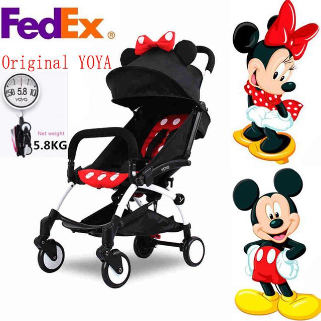 Original babyyoya yoya cochecito de bebé carro cochecito de bebé plegable portátil de viaje para niños buggy coche babyzen yoyo cochecito