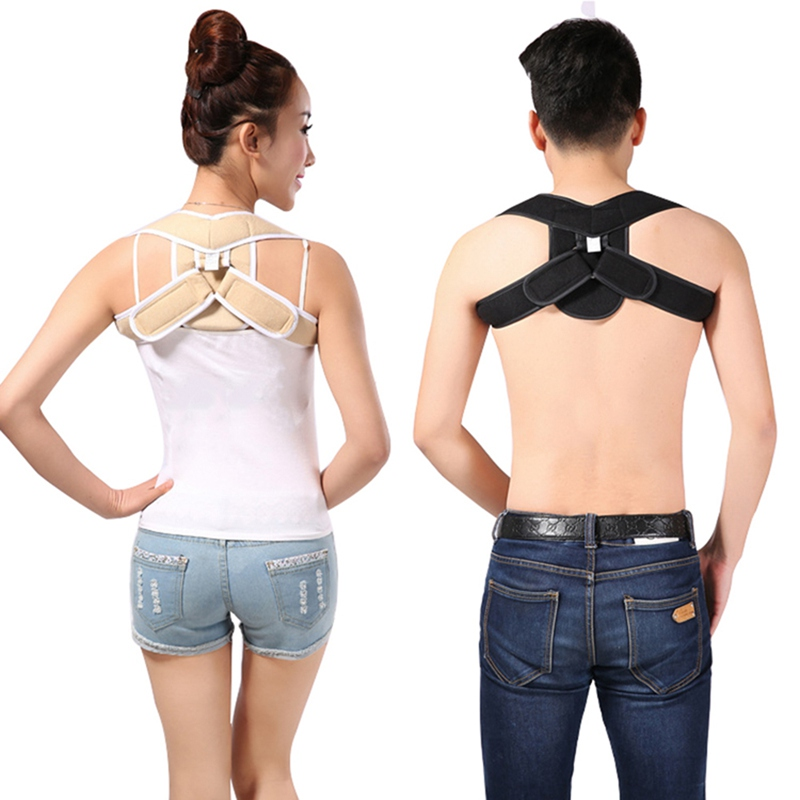 Good Body Shaping Solid Color Adult Male Female Invisible Back Correction Clothing Adjustable Hunchback Correction Belt Underwear & Sleepwears Women's Intimates