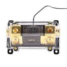 Catuo 100A 2-способ Аудиомагнитолы автомобильные Мощность держатель предохранителя стерео кабель заземления распределительный блок с LED Дисплей