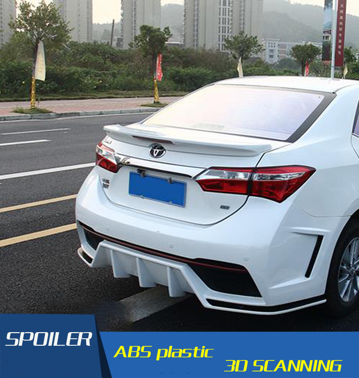 for new corolla spoiler high quality abs material car rear. Black Bedroom Furniture Sets. Home Design Ideas