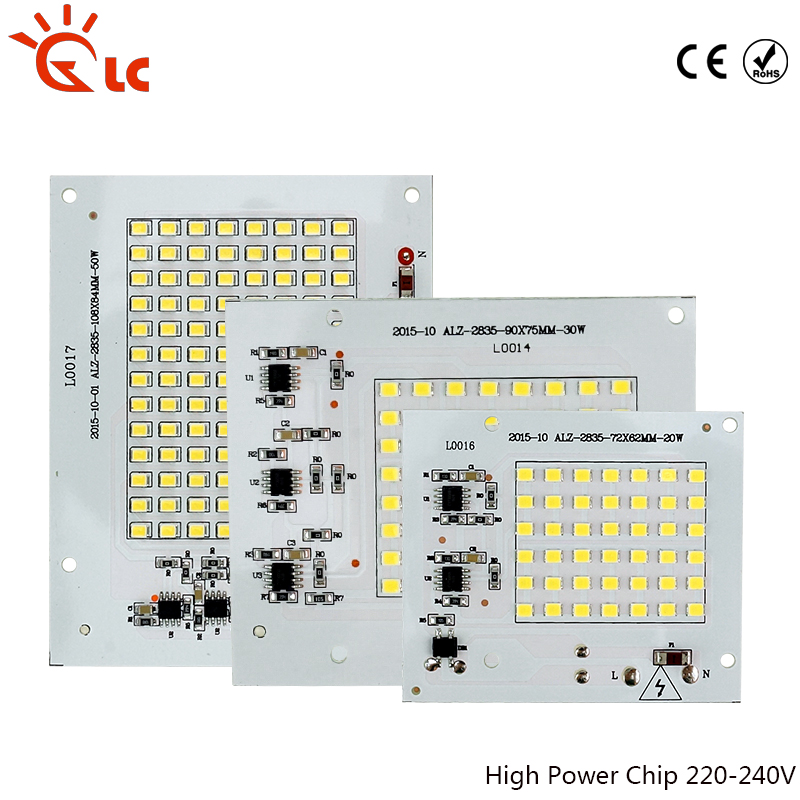 <font><b>LED</b></font> <font><b>Chips</b></font> Smart IC 10W 20W 30W 50W <font><b>90W</b></font> 220V With Driver For DIY Outdoor FloodLight Cold Warm White image