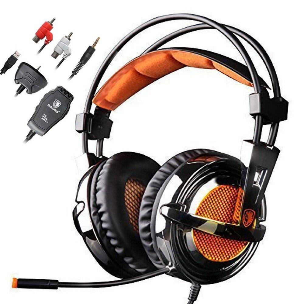 bilder für Sades SA-928 Stereo Gaming Headset Computer Kopfhörer 7,1 Sound mit Mikrofon für PC Laptop PS3 Xbox 360 Gamer Handys