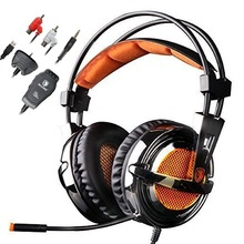Sades SA-928 Stereo Gaming Headset Computer Headphones 7.1 Sound with Microphone for PC Laptop PS3 Xbox 360 Gamer Mobile Phones(China)