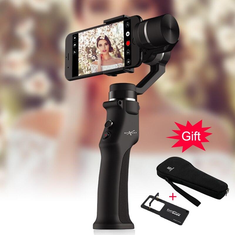 EYEMIND Топ QualitySmartphone ручной карданный 3 оси стабилизатор для телефона действие Камера Bluetooth APP палка для селфи estabilizador